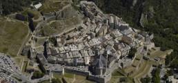 Briançon vu du ciel, ville patrimoine de l'Unerso