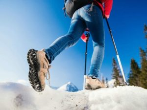 La marche nordique comme activités hivernale,