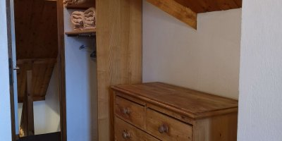 Rangement chambre double duplex appart-hotel