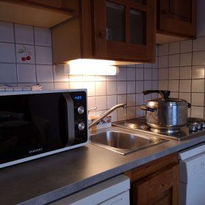 Kitchenette Appart-hotel Alliey & Spa Piscine